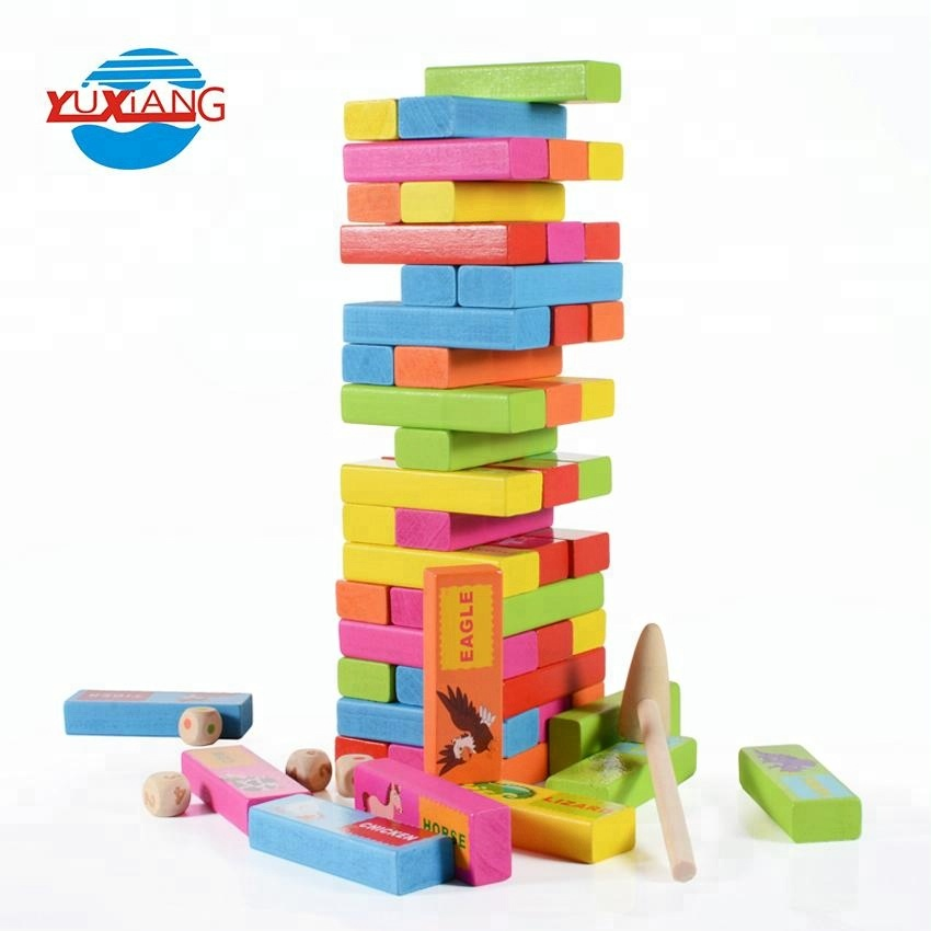 Educational play toy wooden building blocks for kids