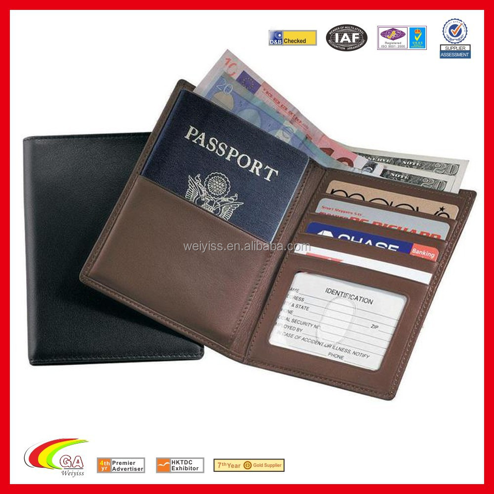 Nappa Leather Rfid Blocking Passport Currency Wallet,Hotsale ...