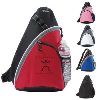 cff7f68754 Wholesale triangle backpack Promotional Kid-Friendly Sling Backpack bag for  sports