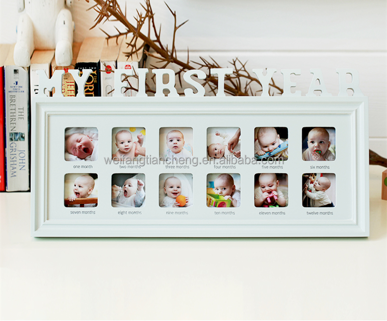 The Memory Of The First Year Baby 12 Months Baby Photo Frame/ Clear ...