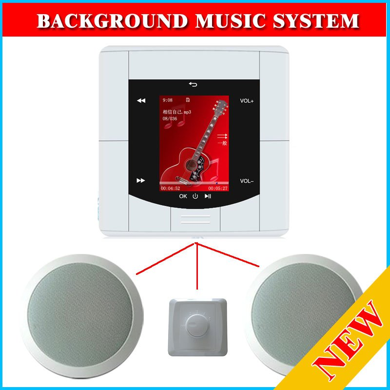 background music system 2 ceiling speaker usb ci card for home wall install use new launch in. Black Bedroom Furniture Sets. Home Design Ideas
