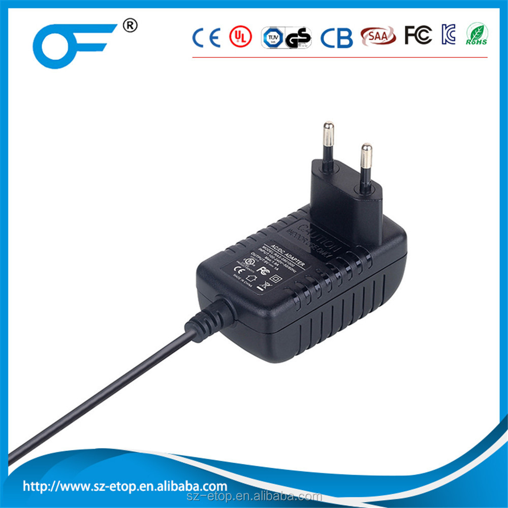 5V2A 9V1A 12V1A europe plug power adapter for neon light