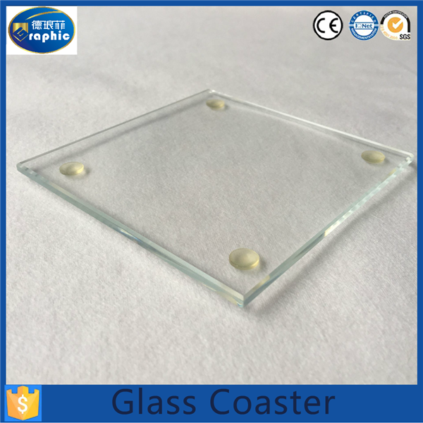 wholesale blank clear drink glass coasters for gift buy. Black Bedroom Furniture Sets. Home Design Ideas