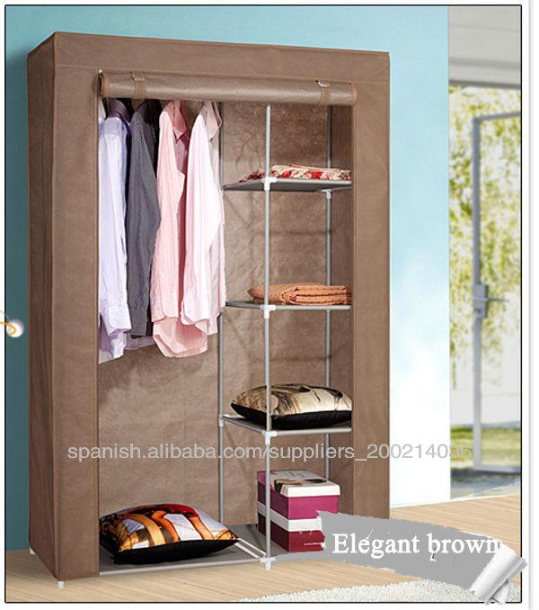 Inicio de almacenaje plegable montar armario de tela otros - Montar puertas correderas ...