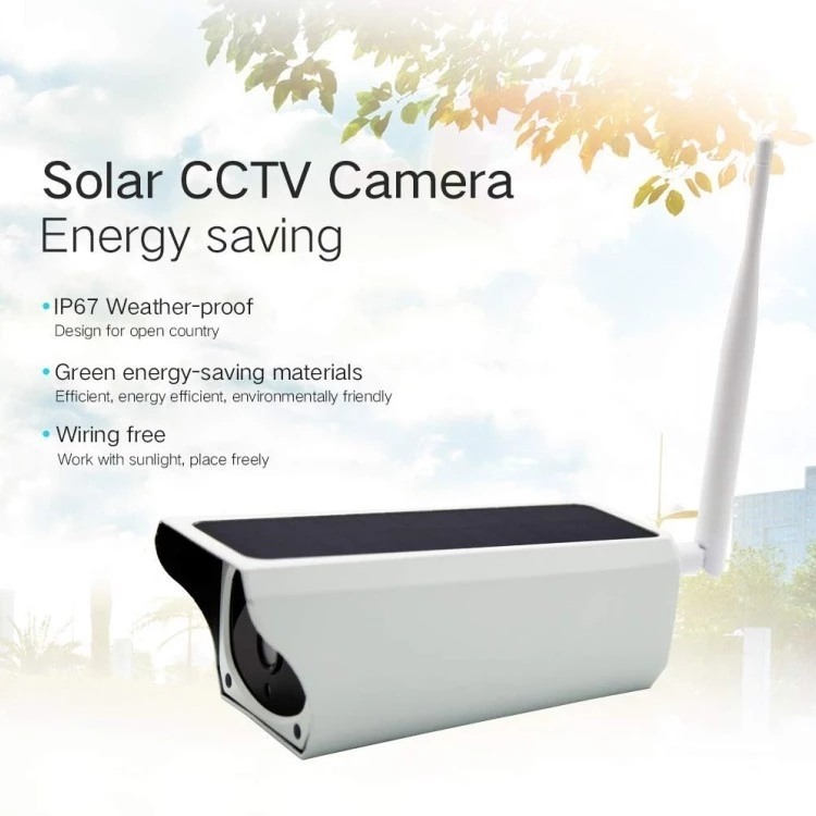 Oversea hotsale house security IP 67 Waterproof 2MP 1080P Remote control nigh vision WIFI IP camera Solar CCTV Camera