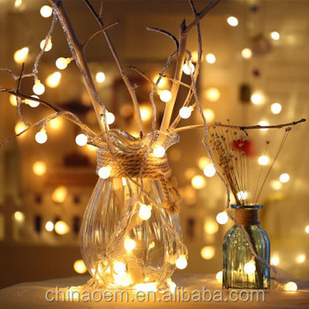 Hanging Indoor Outdoor Globe Decorative Round Beard Led String Lights