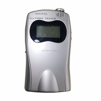 Professional Breathalyzer with Semi-conductor Sensor and LCD Display Digital Breath Alcohol Tester with 10 Mouthpieces Fits