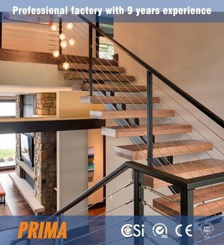 Acacia Wood Stairs Treads Metal Architectural Stair Modern