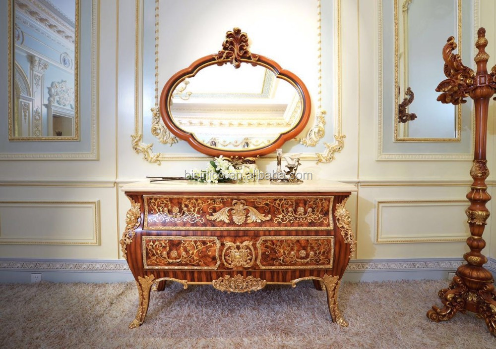 Royal louis xv marquetry k vergulde dressoir commode kast met
