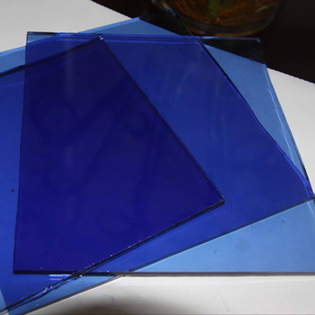CE certificate aluminum float sheet price stained blue tinted tempered glass for window