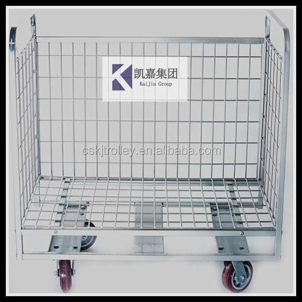 Good price Storage cage for supermarket with four wheels