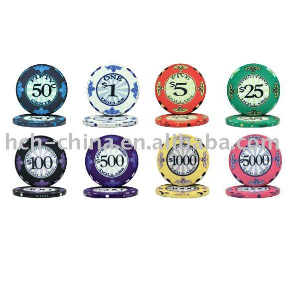 Casino Quality Ceramic Poker Chips Custom design acceptable