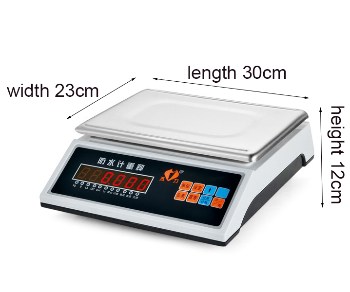 6 kg digital waterproof weighing scales