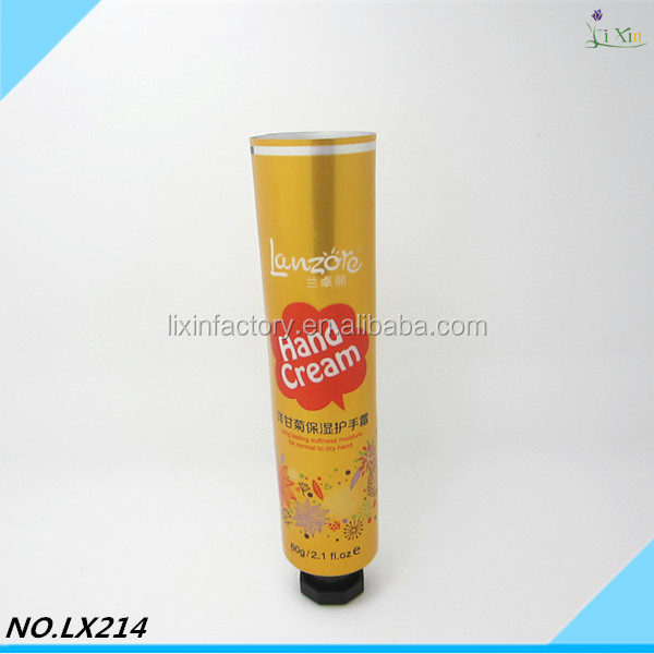 Diameter 25mm 20-50ml cosmetic plastic soft tube with acrylic cap for cream