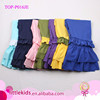 Triple Ruffle Pants Children Trousers Fashion Cotton Knit Long Tiered Little Girls Ruffle Pants