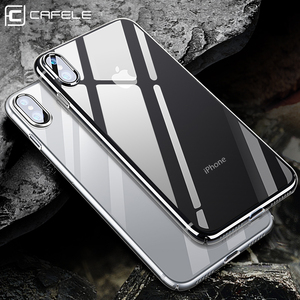 CAFELE Luxury Mobile Cover Soft Clear Ultra Thin Transparent Case TPU Privacy Screen Protector For iphone X Xs Xr Xs Max