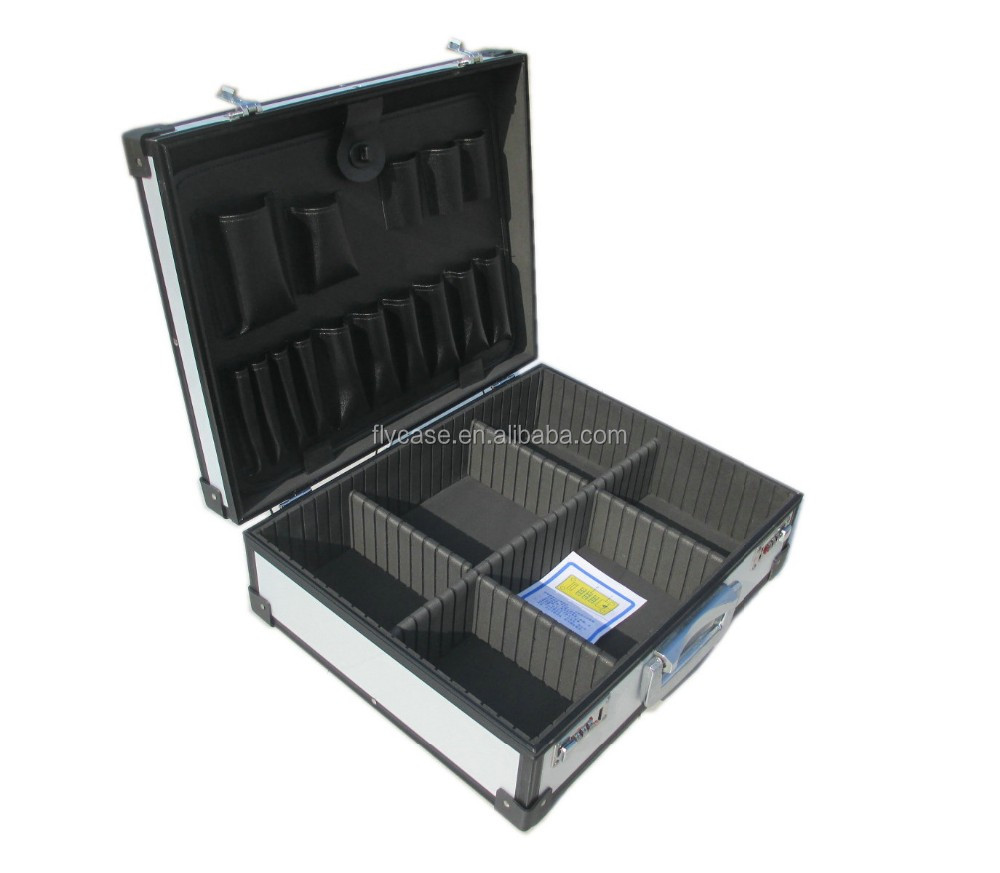 2017 new portable <strong>hard</strong> aluminum tool <strong>case</strong>,light weight tool box with shoulder strap