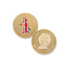 High quality gold london souvenir custom challenge coins uk
