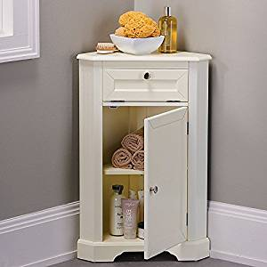 Weatherby Bathroom Corner Storage Cabinet - Cream