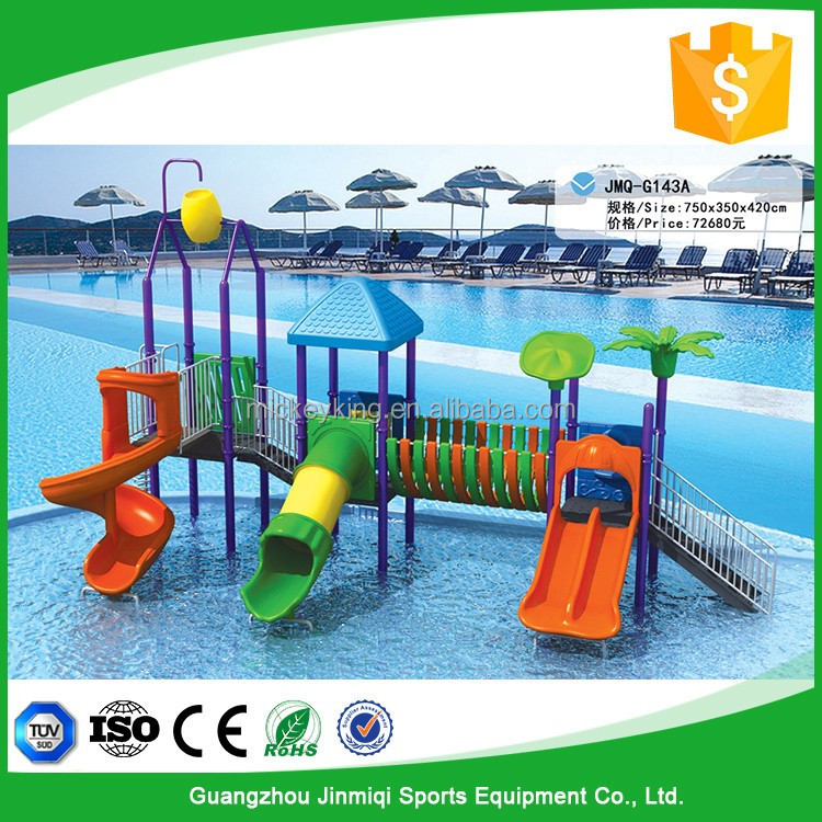 China imported plastic water slide for swimming pool