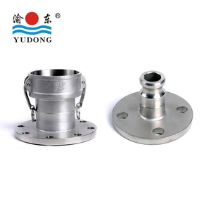 304 SS stainless steel type F male bsp quick coupling with flange