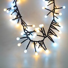 Outdoor 3 Wire Warm White Christmas Fairy LED Cluster Light For Sale