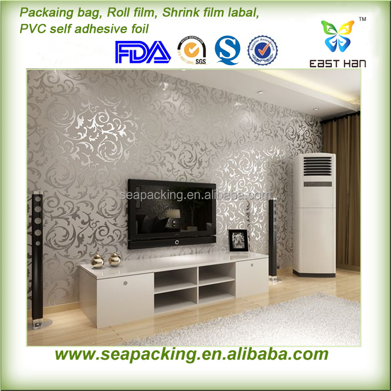 Hot sales wallpaper manila philippines good quality PVC self adhesive Decorating wallpaper