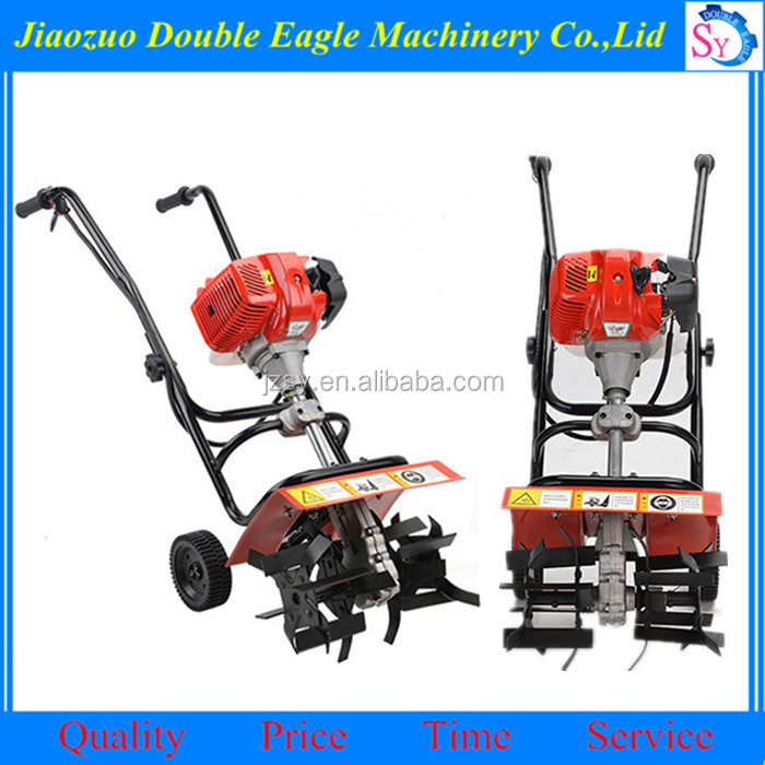 Factory Supply Hand Push Gasoline Tiller Garden Plow Machine Cheap