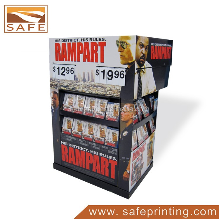 retail DVD/CD cardboard display point of sale pallet display