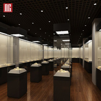 Profession Custom Glass Display Showcase For Museum