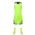 Latest Custom Sublimation Blank Reversible Fit Basketball Jersey Design Green Basketball Uniform for Sport