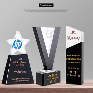 Wholesale K9 trophy custom crystal trophy and awards
