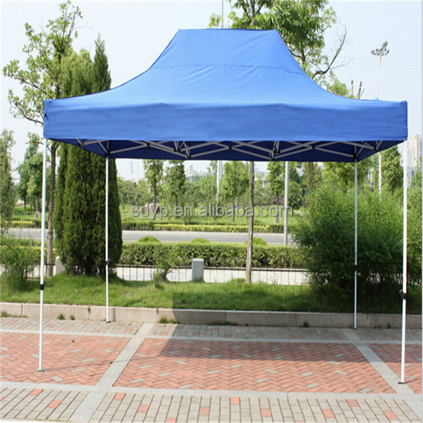 Yunpeng 3x4.5m kingkong white steel folding tent ellipse cross tube