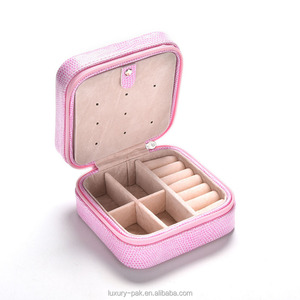 Creative Jewelries Box Mini Small PU Leather Casket for Jewelry Travel Case Best Birthday Gift Ring Earrings Necklace Storage