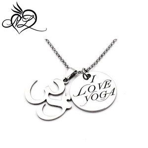 Stainless Necklace Yoga Gift for Women OM Chain Pendant Jewelry for Girl Teen Anniversary