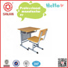 SJ-136 steel and MDF desk used student chair with writing tablet