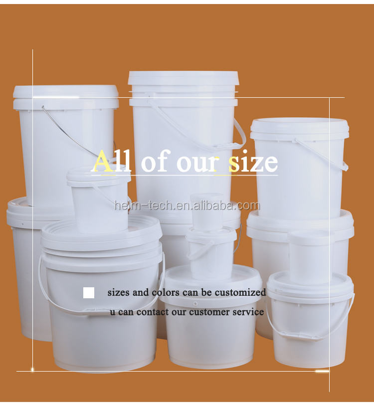 Hot Sale! 20L Food Grade 5 Gallon plastic buckets with handle and lid plastic pail