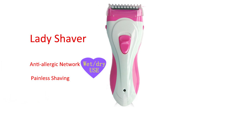Lady Hair Shaver Rechargeable Waterproof Wet Dry Using Beauty Body Hair Razor
