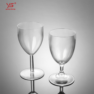 High class pc custom printed unbreakable plastic wine cup for sale