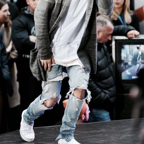 Hot sale 2017 customize mens custom ripped men jeans negotiate price