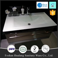 2017 new countertop,milk white bathroom glass vanity tops