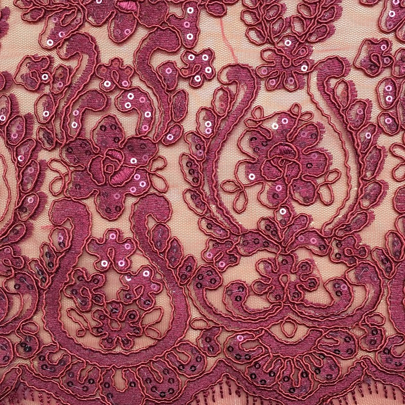 best selling shaoxing custom bridal 100% polyester embroidery tape 3mm sequin net embroidery fabric