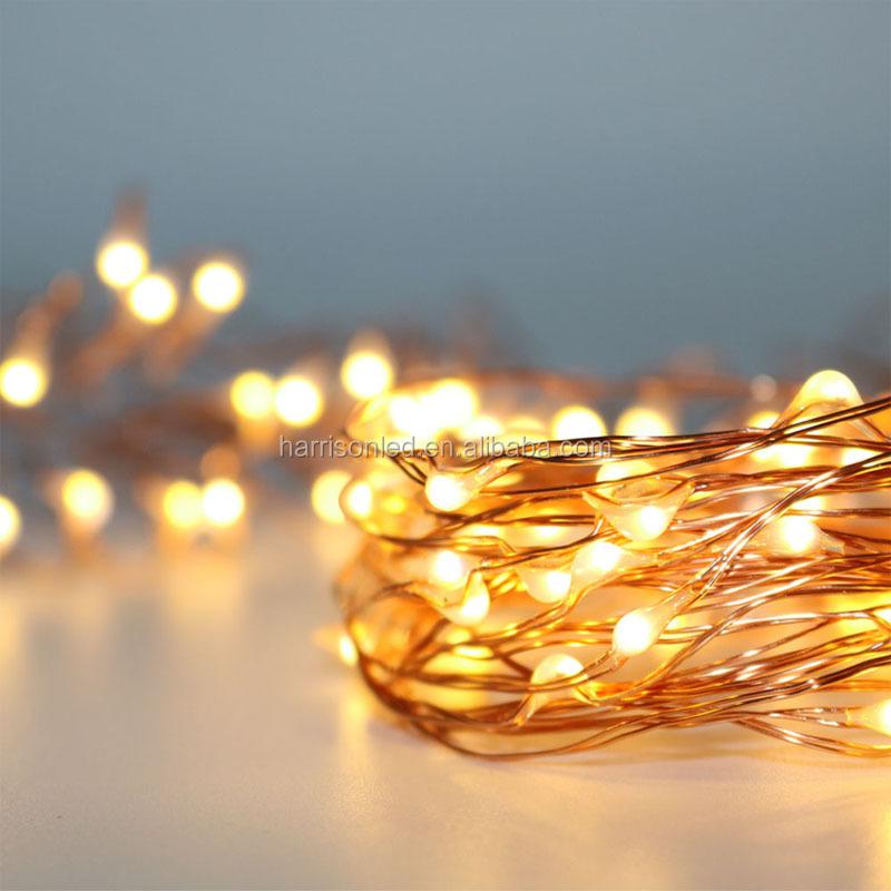 Chaud batterie commande électrique fil de cuivre led chaîne fée lumières noël xmas