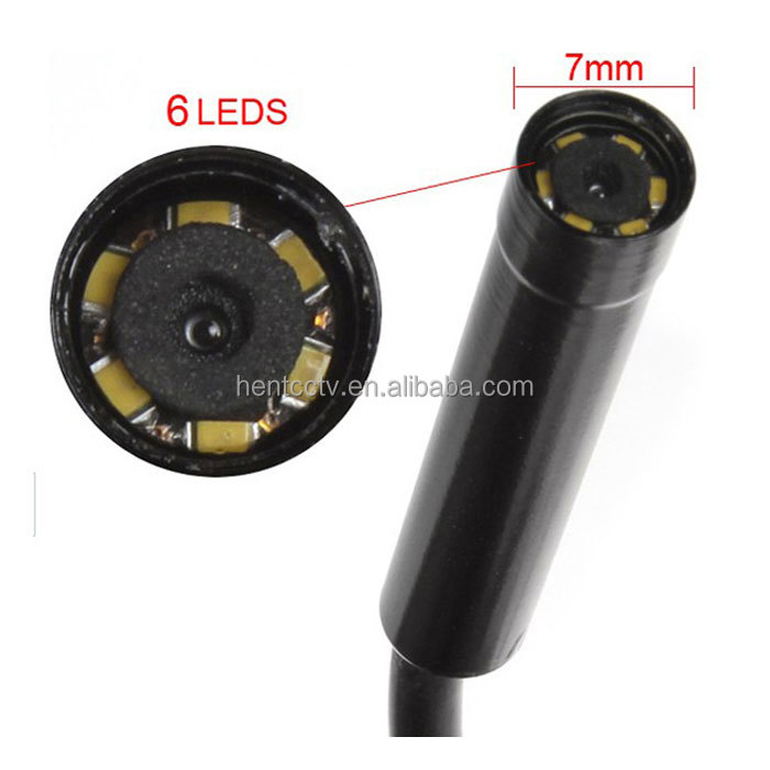 New super 2 in1 7mm <strong>Camera</strong> 6LED Waterproof 5M USB Android Endoscope <strong>Camera</strong> for Android Smartphone And PC for Inspection