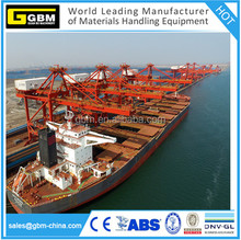 GBM 3000T/H hydraulic cement /grain/chemical ship unoader for cargo bulk