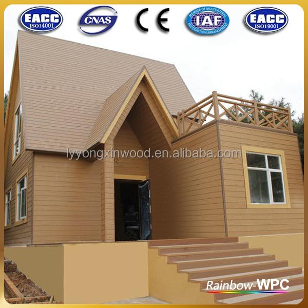 Wpc compuesto revestimiento de madera impermeable paneles de pared pared exterior madera - Paneles madera exterior ...
