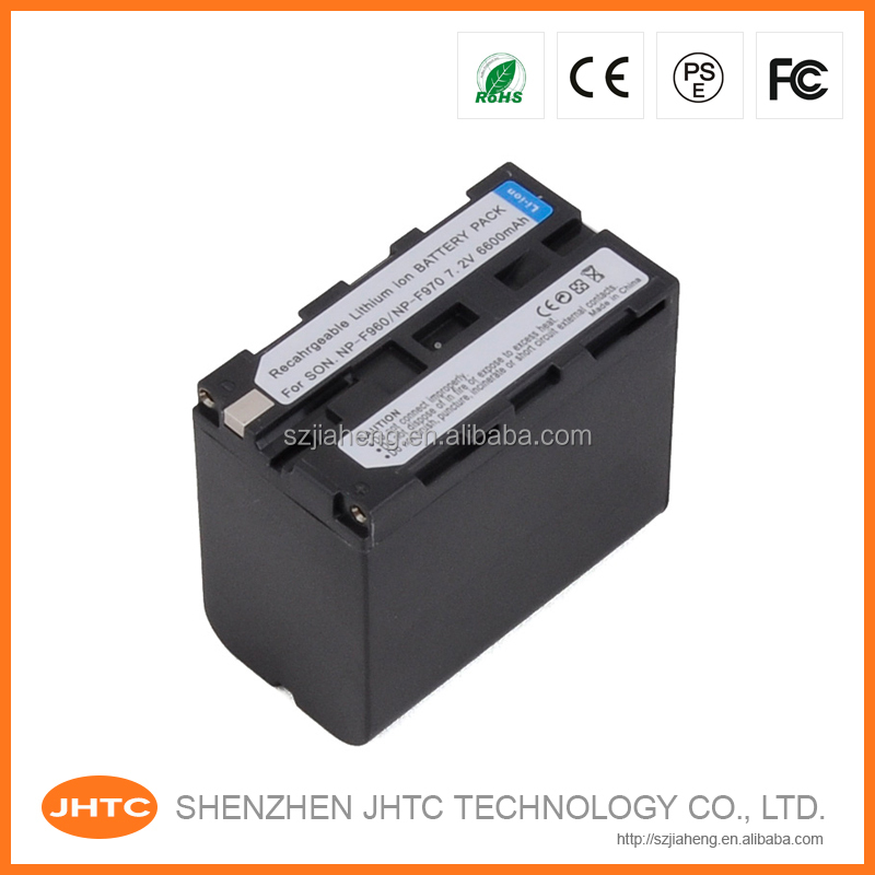 For sony battery /CCD-TR Series for sony camcorder battery F970 NP-F970 NP-F960 7.4v 6600mAh