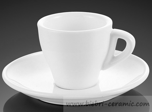 Plain White Color Porcelain And Fine Bone China Coffee And