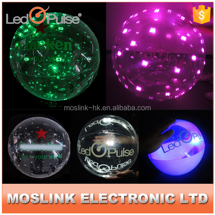 Wholesale high quality inflatable FireFly led light ball beautiful motion sensor light up beach led ball