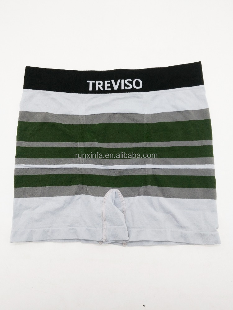 High Quality Custom Embroidered Underwear Custom Made Mens Boxer Briefs Shorts Stripe Underpants
